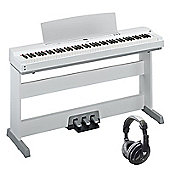Yamaha P-255 Portable Digital Piano Package - White