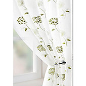 Carnation Voile Curtain Panel - Green