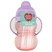 TESCO LOVES BABY AND TODDLER TRAINER SOFT SPOUT HANDLED BEAKER GIRL