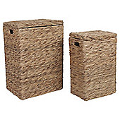 Water Hyacinth Laundry Hamper Set Of 2