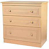 Welcome Furniture Corrib 3 Drawer Deep Chest - Light Oak