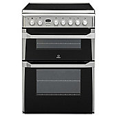Indesit ID60C2XS, Built-in, Electric Cooker, 60cm, Stainless Steel, Twin Cavity, Double Oven