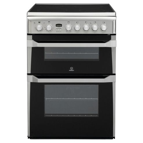 Indesit ID60C2(X)S, Stainless Steel, Electric Cooker, Double Oven, 60cm