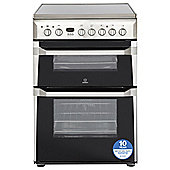Indesit Electric Cooker with Electric Grill and Ceramic Hob, ID60C2(X) S - Stainless steel