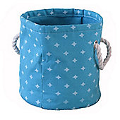 Wicker Valley Small Round Soft Storage in Blue Star