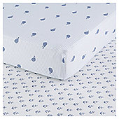 Tesco Whale 2pk Cot Bed Sheets