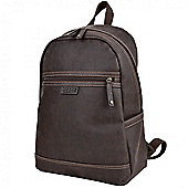 TLL005 Troop London Faux Leather Large Backpack