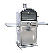 Lifestyle LFS690 Milano Stainless Steel Deluxe Gas Outdoor Garden Pizza BBQ Oven - Silver