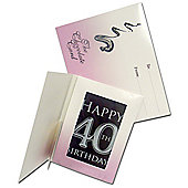 Chocolate Cards - 40th Birthday