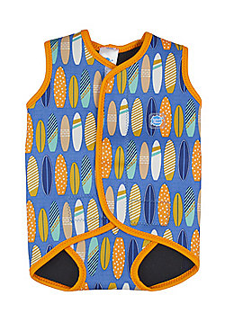 Splash About Baby Wrap - Surfs Up - Blue & Orange