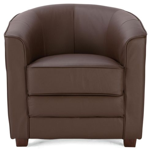Lana Leather Accent Chair Brown