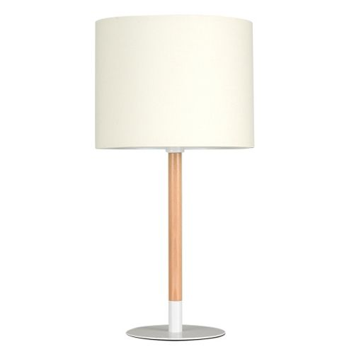 buy llewelyn wooden stick table lamp base black with cream shade from our table lamps range tesco. Black Bedroom Furniture Sets. Home Design Ideas