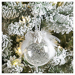 Weiste White Frosted Angel Christmas Tree Decoration