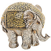 Multan - Indian Elephant Decorative Crackle Ornament - Gold