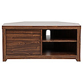 Tribeca Corner TV Unit, Walnut