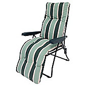 Culcita Padded Reclining Garden Chair, Green