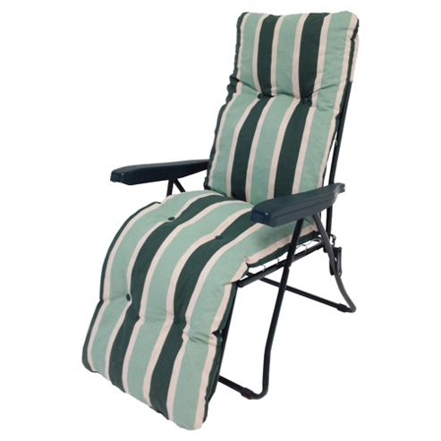 Buy Culcita Padded Reclining Garden Chair Green From Our