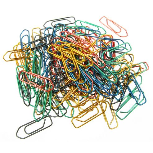 Maped Metallic Coloured Paper Clips - 100pk