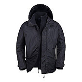 Mountain Warehouse Fell Mens 3 in 1 Water Resistant Jacket - Black