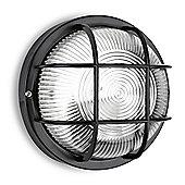 Pendle IP44 Round LED Bulkhead Light in Black