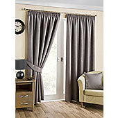 Brook Ready Made Curtains Pair, 66 x 90 Pewter Colour, Modern Designer Look Pencil pleated curtains
