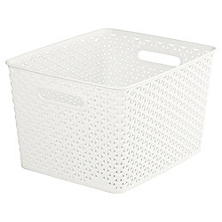 Curver My Style Large 18L Storage Basket, Cream