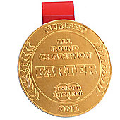 Champion Farter Chocolate Medal
