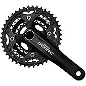 Shimano Deore FC-M590 - 24/32/42 - 10 Speed MTB Chainset in Black - 175mm