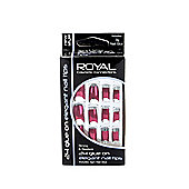 Royal 24 Glue-On Elegant Nail Tips - Burgandy