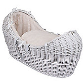 Clair de Lune White Noah Pod Moses Basket (Honeycomb Cream)