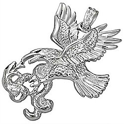 Urban Male Stainless Steel Eagle & Snake Pendant For Men
