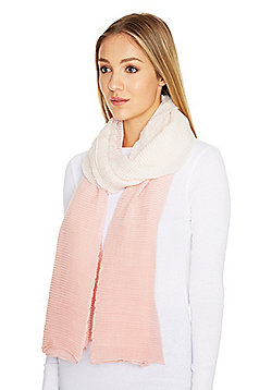 F&F Pleated Ombr© Sparkle Scarf - Pink