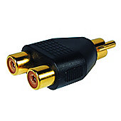 Gold-Plated 2-into-1 Phono Adaptor