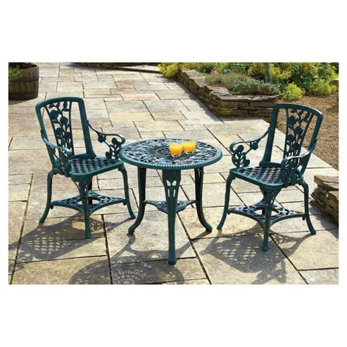Rose Arm Chair Patio Set - Verdigris