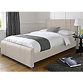 Snug City Single Cream Upholstered Bed Frame Knightsbridge Design Made In the UK