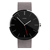Motorola MOTO 360 (1.56 inch Touch) LCD Android Wear Leather Wristwatch (Grey)