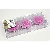 Pharmore Ltd Floating Led Roses Candle (Set of 3) - Pink