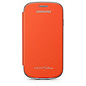 Samsung Original Leather Flip Case for Galaxy S3 Mini - Orange