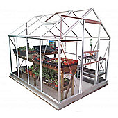 Simplicity Classic Plain Aluminium Greenhouse 6x8 Starter Package