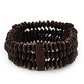 Fancy Wood Bead Bracelet - up to 19cm wrist