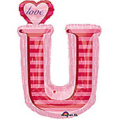 Valentines Balloons 32' Love U Shape Supershape (each)