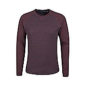 Mountain Warehouse Waffle Mens Long Sleeve Stripe T-Shirt - Red