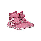 Squirrel Kids Childrens Boys Girls Junior Waterproof Walking Hiking Boot - Pink