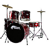 Tiger Red Full Size Drum Kit