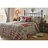 Dreams n Drapes Tatton Patchwork Red Bedspread - 229x195cm