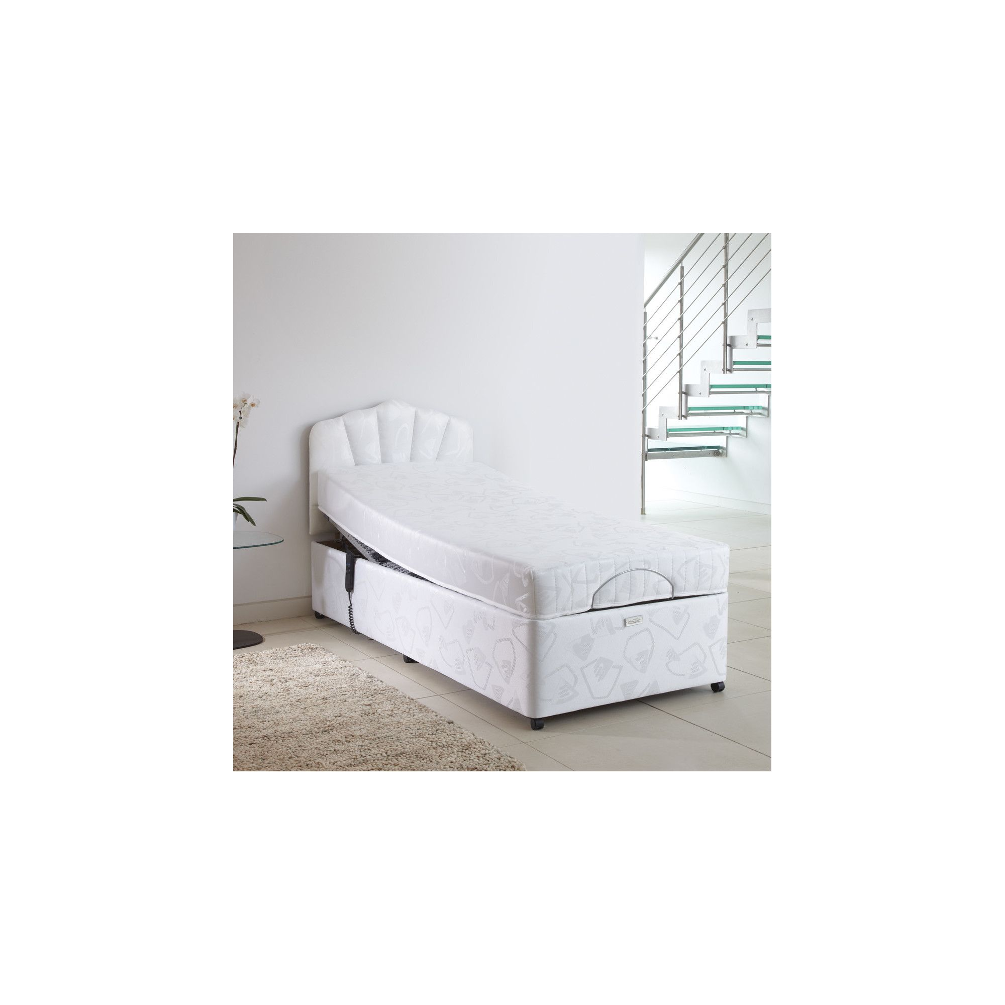 Bodyease Adjustable Deep Base Set with Electro Neptune Mattress - Extra Small Single - 2 Drawers at Tesco Direct
