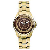 Original Penguin Gents Gold Tone Steel Bracelet Watch OP3022GD
