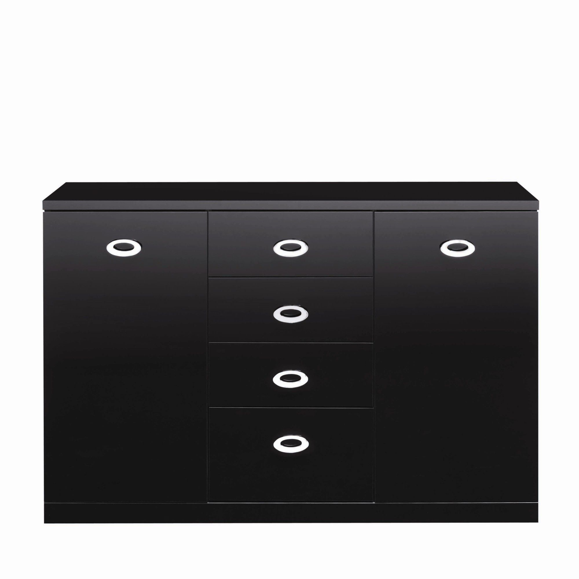 Caxton Manhattan Small 2 Door / 4 Drawer Sideboard in Black Gloss at Tesco Direct