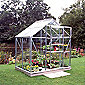 Halls 4x6 Popular Greenhouse + Base & Vents - Toughened Glass
