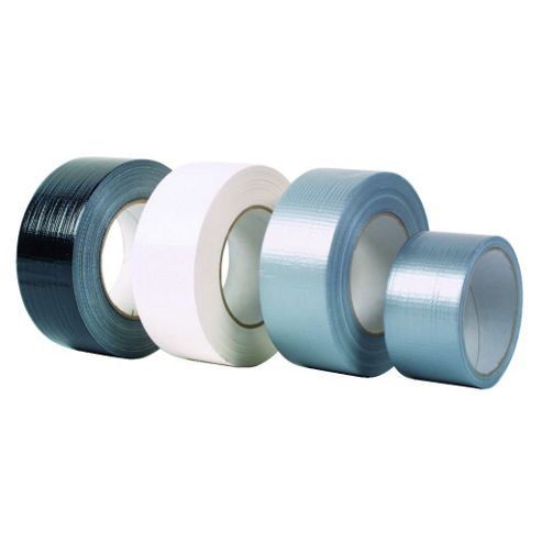 Rhino Gaffer Duct Cloth Pvc Tape Silver 50M Roll